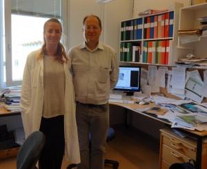 Daniela Hahn und Prof Leif Andersson-klein
