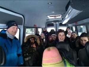 im Bus in Norwegen