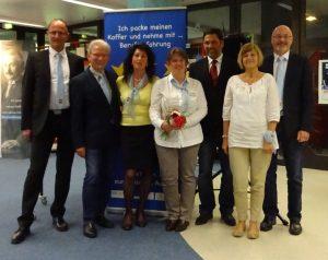 Vorstand und Aufsichtsrat des GFT-Erasmus e.V. mit dem neuen Schulleiter