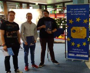 drei Teilnehmer, die in Spanien, Großbritannien und Irland waren